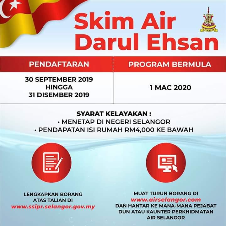 Cara Memohon Skim Air Percuma Darul Ehsan Dan Syarat Kelayakan Suara Viral Malaysia