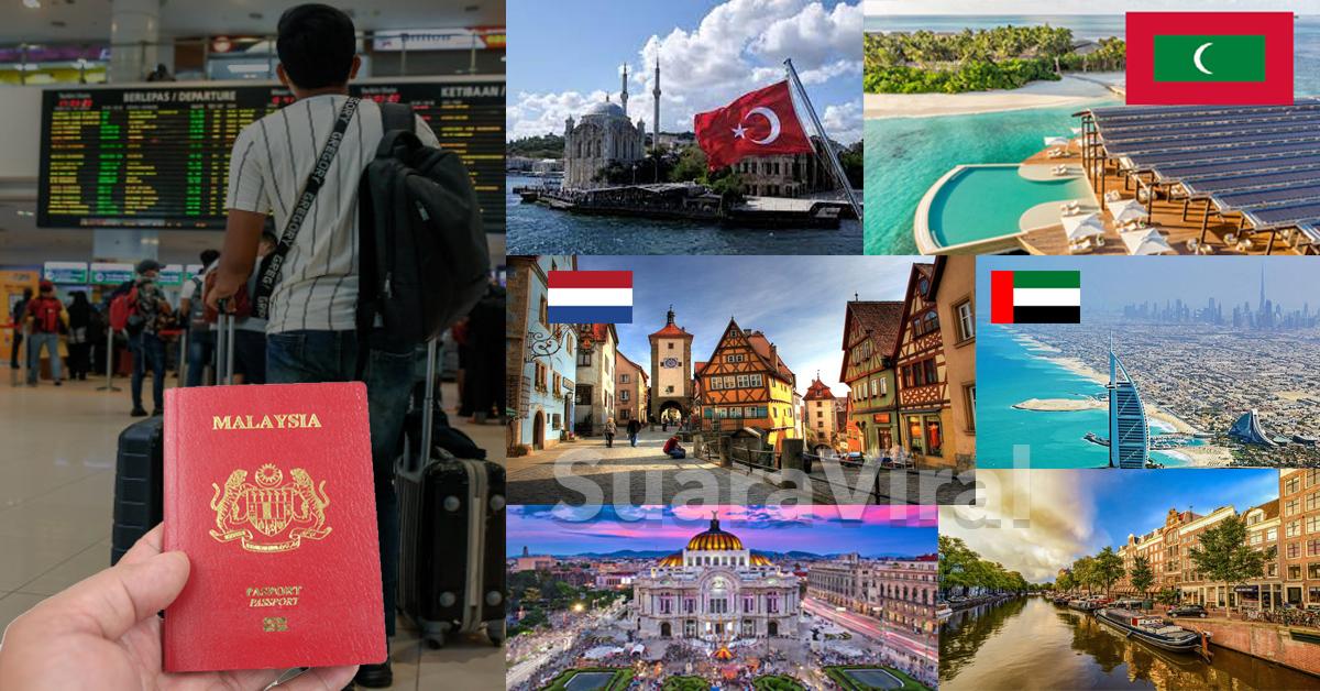 Negara Yang Menerima Pelancong Malaysia